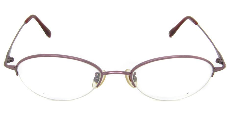 pink cat eye rectangular  titanium glasses frame HL-V640