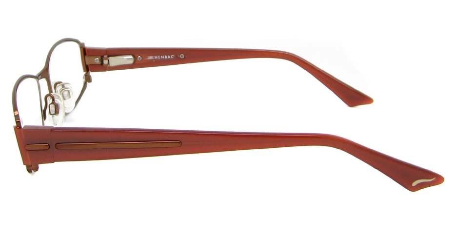 blend rectangle leisure brown glasses frame 902017-C60
