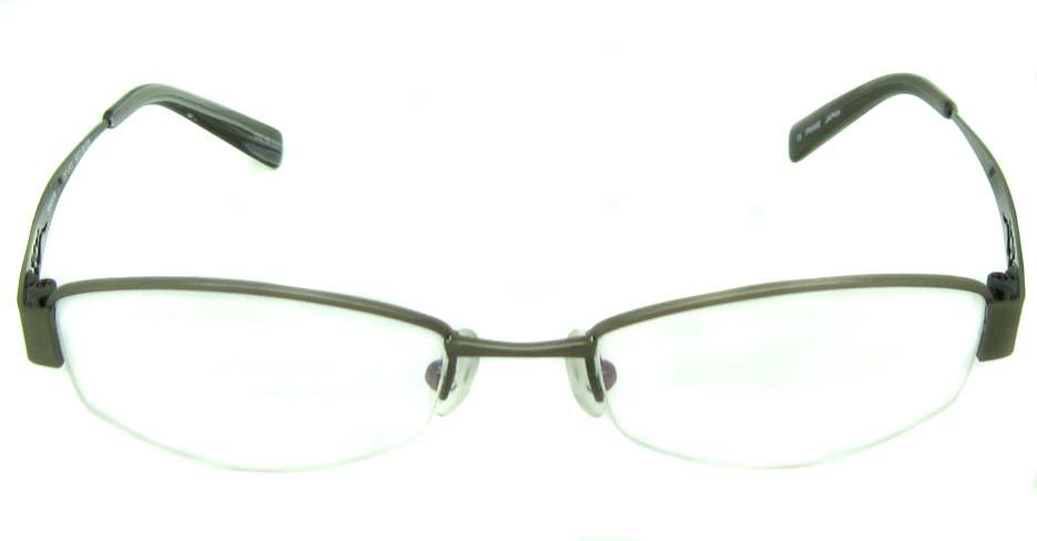 grey metal oval  glasses frame  HL-1003
