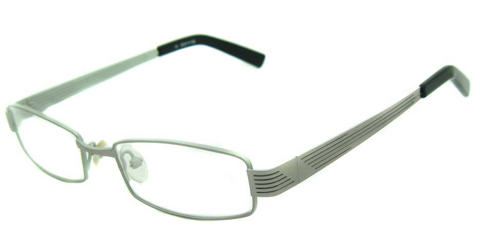White metal rectangular glasses frame     HL-CO5393-003