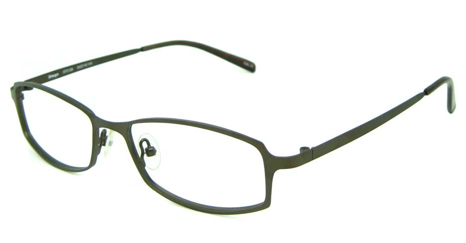 grey metal rectangular glasses frame HL-ST2128-C10