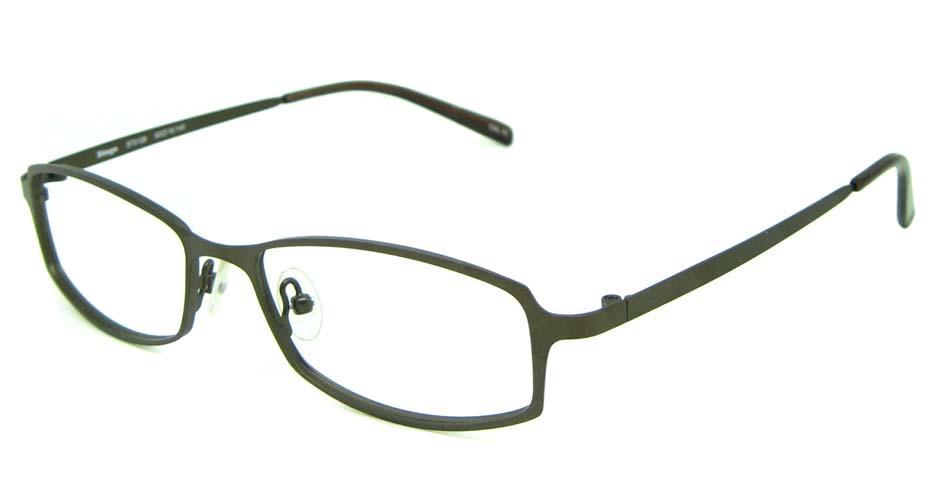 grey metal rectangular glasses frame HL-ST2128-C10