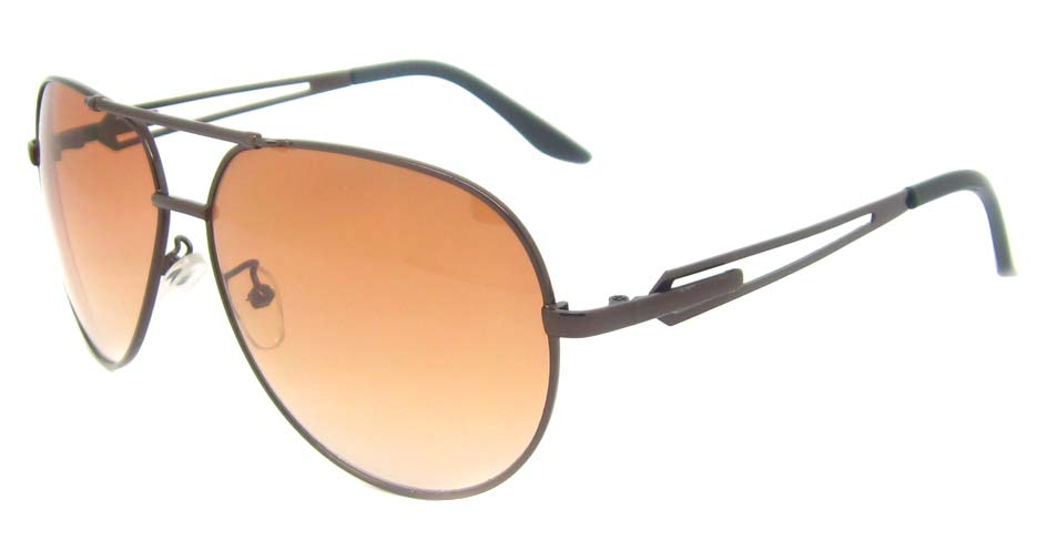 brown metal aviator    glasses frame YW-DH825-ZS