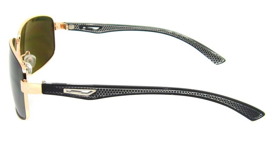 black with gold blend rectangular glasses frame  YW-DH8814-HJS