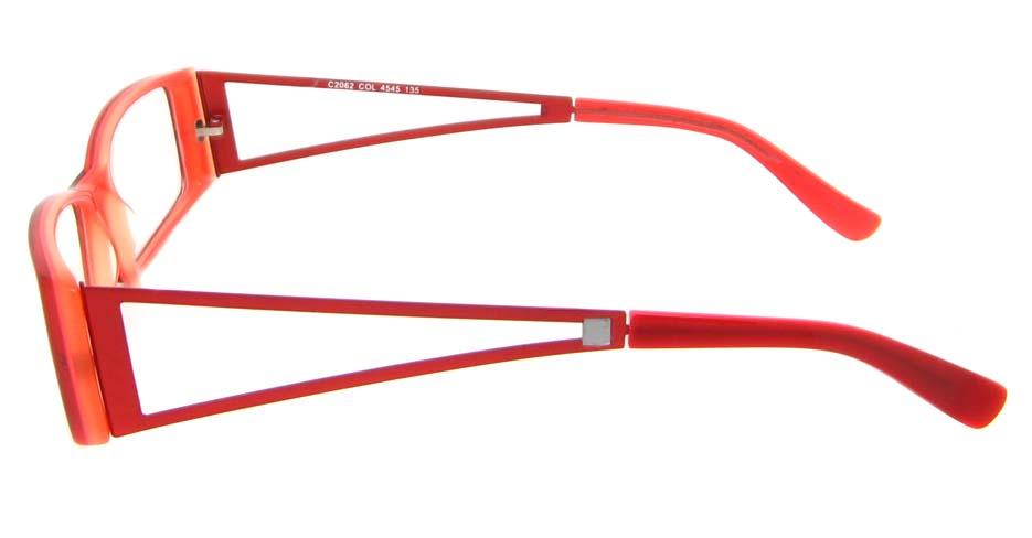 Red plastic Rectangular glasses frame  XL-CP2062-H