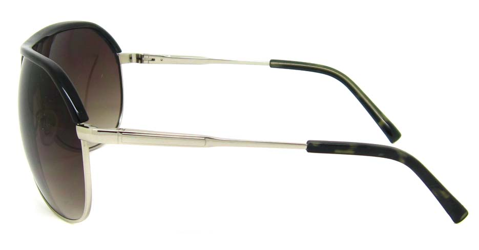 Black with silver oval blend glasses frame XL-HY0001-HYS