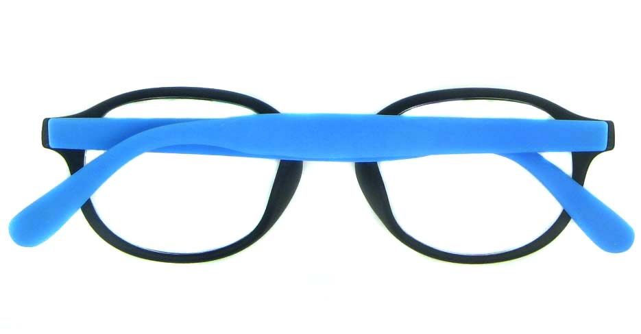black with blue TR  round   glasses frame YL-KLD-8068-C4