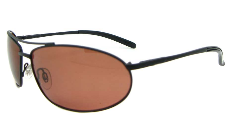 Black Metal Oval Leisure sunglasses XL034