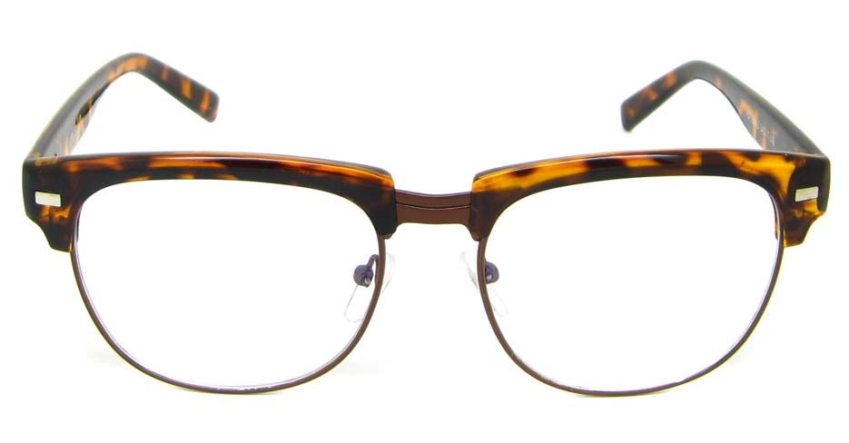 Tortoise  blend retro oval glasses frame YM-OF1849-C2