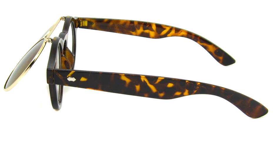 Tortoise blend retro round    sunglasses   YM-OF1849-GWS
