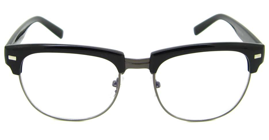 Black  blend retro oval glasses frame YM-OF1849-C4