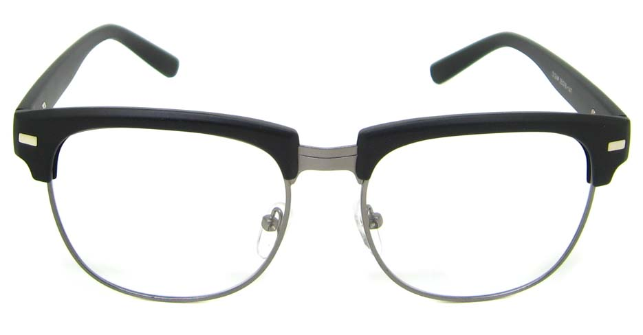 Matte Black blend retro oval glasses frame YM-OF1849-MS