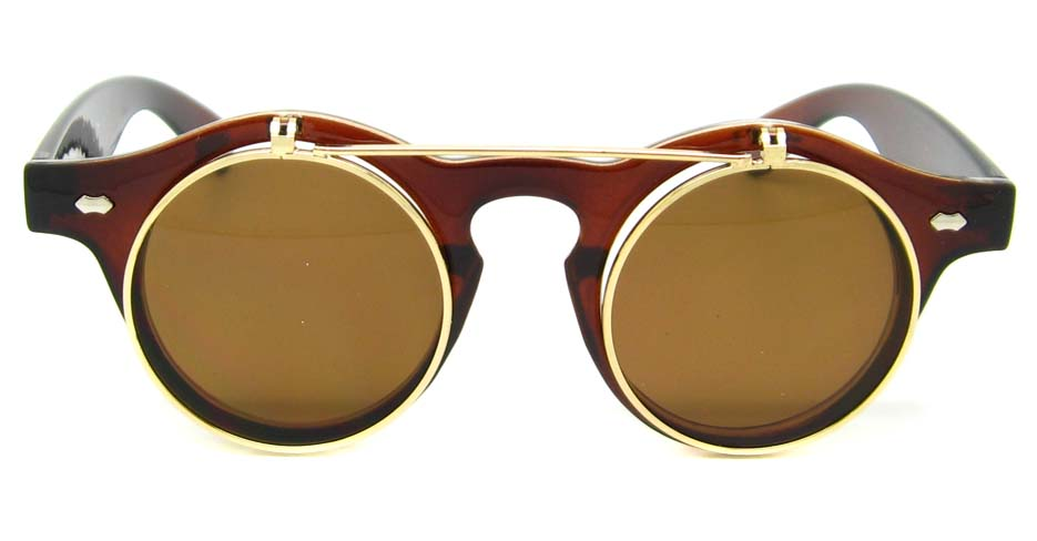 Tea blend retro round    sunglasses   YM-YX008-CS