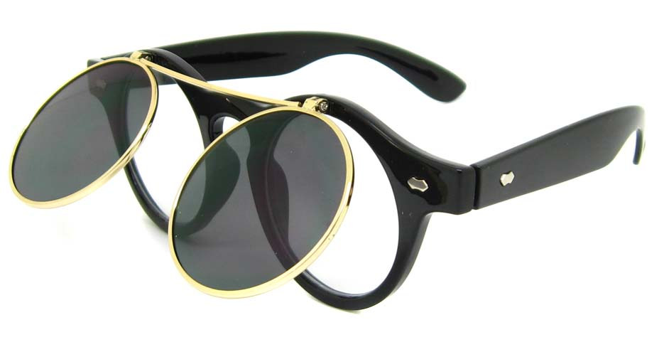 Black blend retro round    sunglasses   YM-YX008-HS