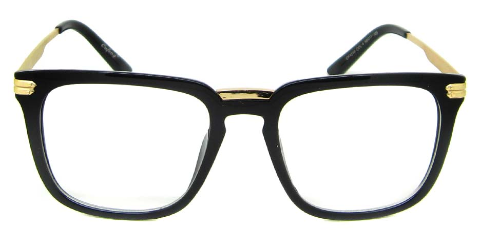 Black with gold oval blend retro frame YM-OF1219-C4
