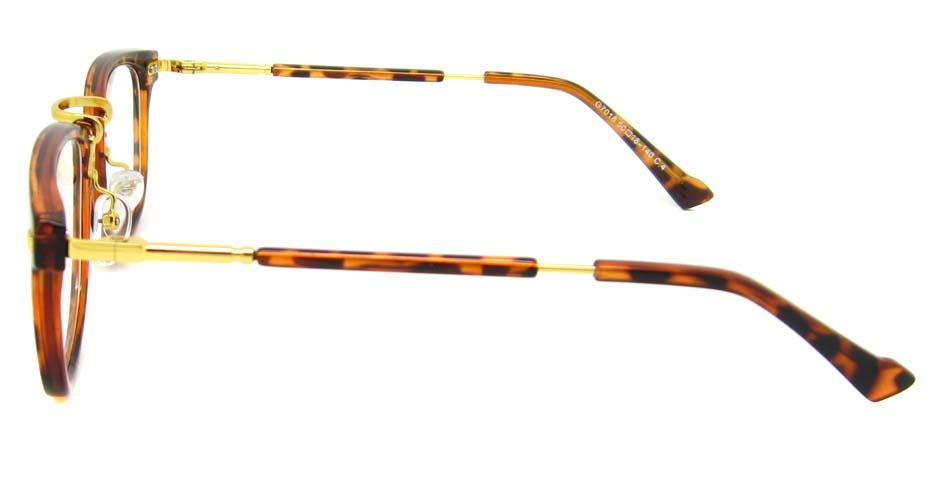 Tortoise blend oval retro frame YM-G7018-c4