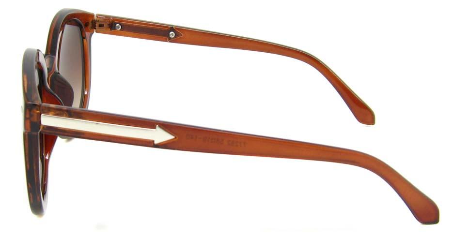 Tea plastic oval retro  frame  BLK-JT77282-CS