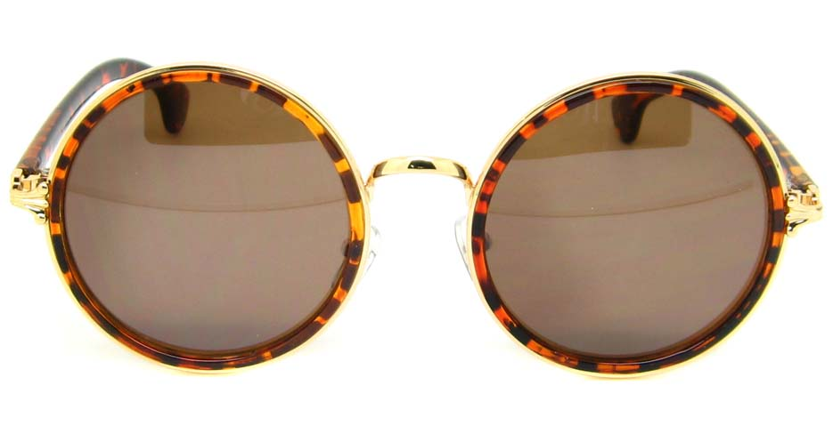 Tortoise with gold retro blend round frame YM-OF2903-C2