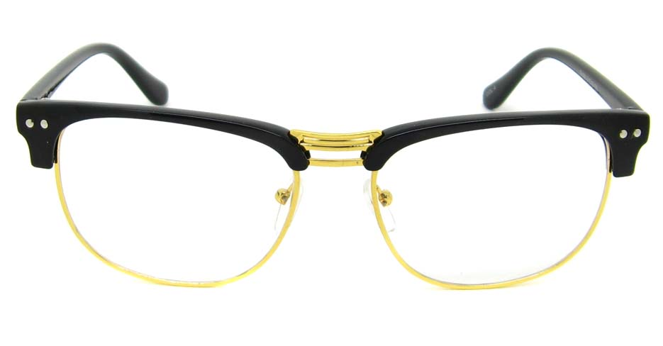 Black with gold oval blend retro frame YM-B088-C4