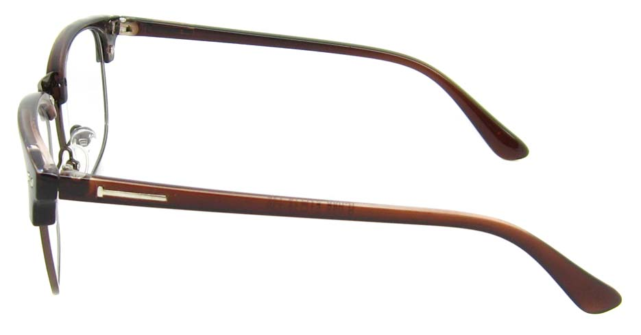 Tea with brown oval blend retro frame   YM-B088-C4