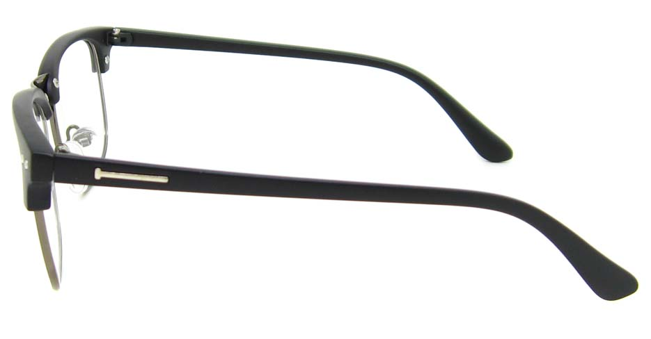 Black with grey oval blend retro frame  YM-B088-C22