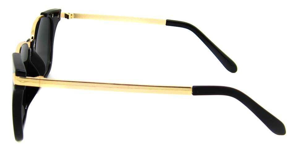 Black with gold blend oval retro frame YM-M1205-C1