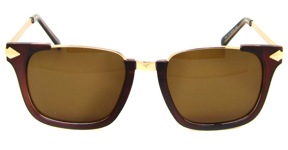 Tea with gold blend oval retro frame YM-M1205-C3