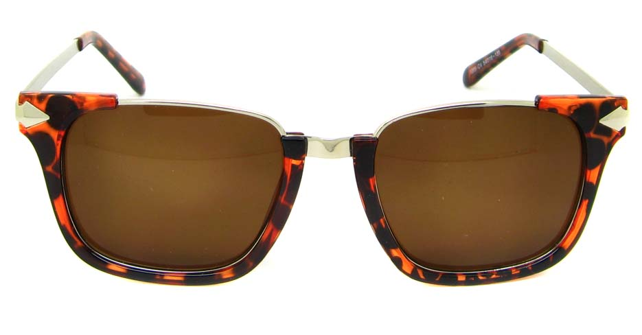 Tortoise blend oval retro sunglasses  YM-M1205-C4