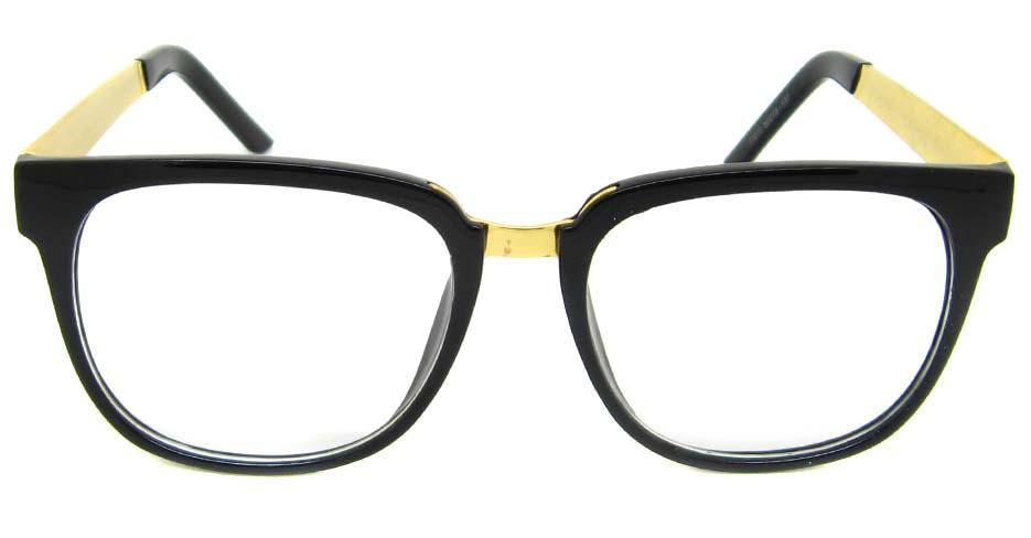 Black with gold blend Oval retro frame BLK-FG77270-HS