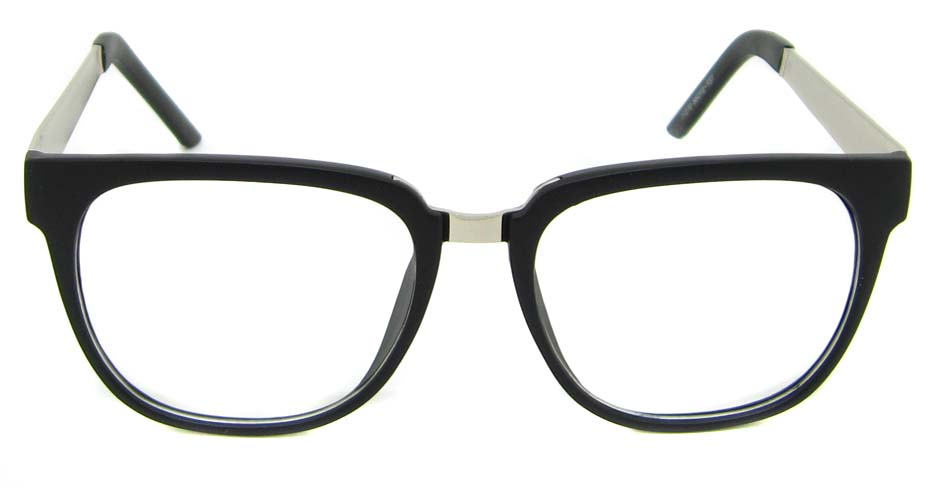 Matte with silver blend Oval retro frame BLK-FG77270-MS