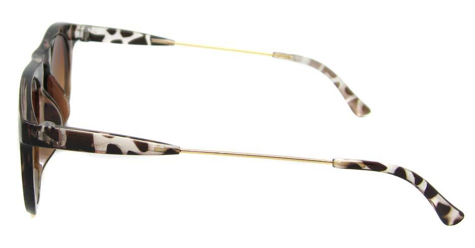Tortoise blend oval retro glasses  LF-FG006-GWS