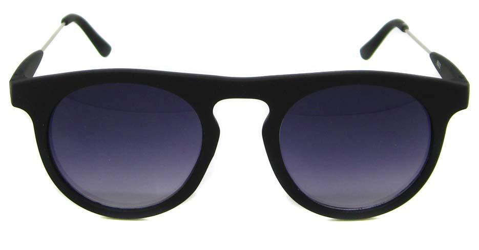 Matte black blend oval retro glasses frame LF-FG006-MSH