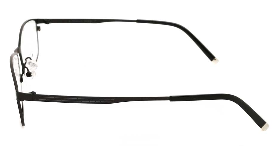 Black  oval  Titanium glasses frame JX-5508-C4
