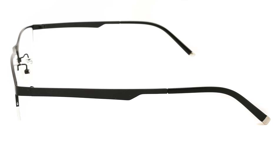 Black oval  Titanium glasses frame JX-5512-C4