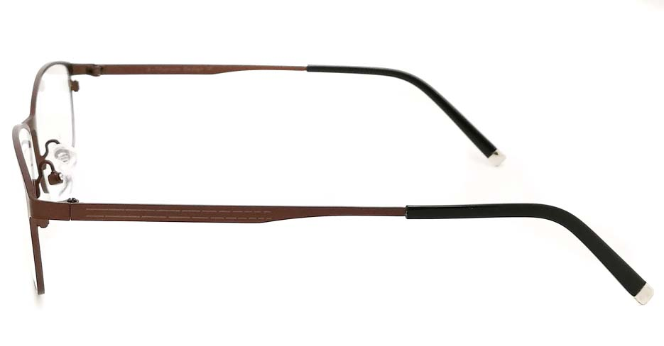 Brown oval  Titanium glasses frame JX-5508-C9