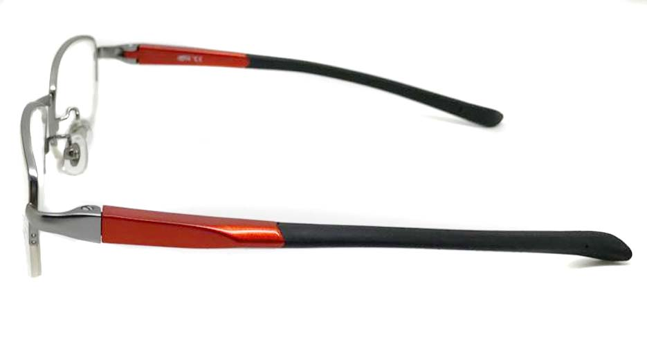 black with red blend sports Rectangular glasses frame LT-G076-C2