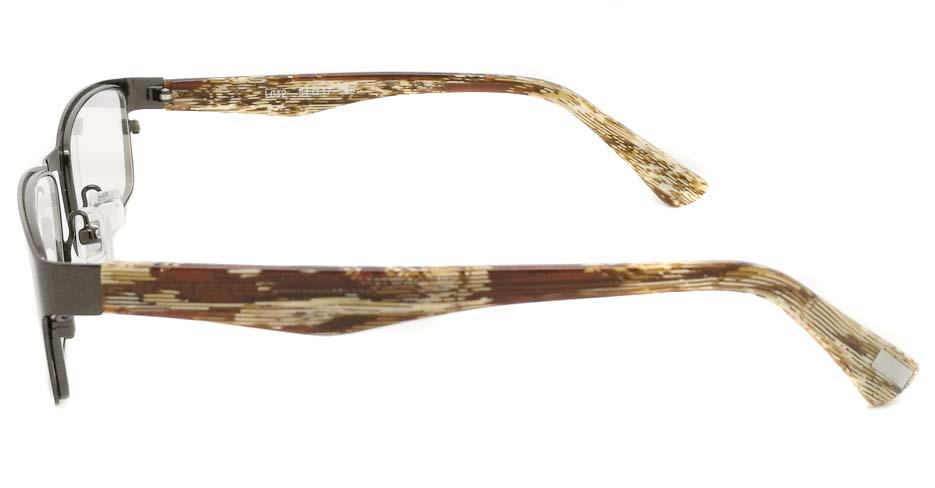 blend grey oval glasses frame JX-L005-C9
