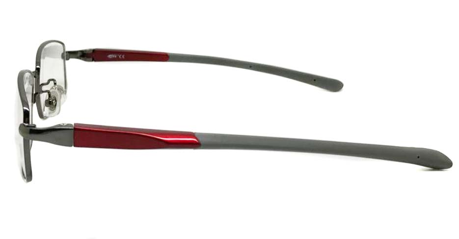 red with silver blend oval sport glasses frame LT-G075-C1