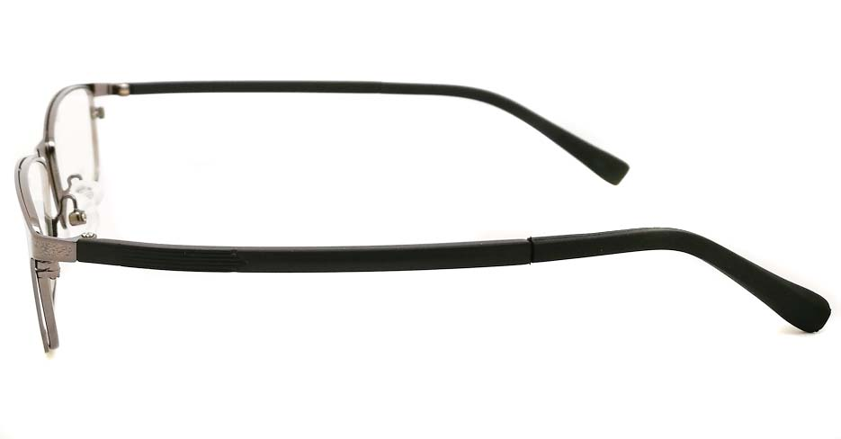 grey black oval glasses frame JX-8587-C3