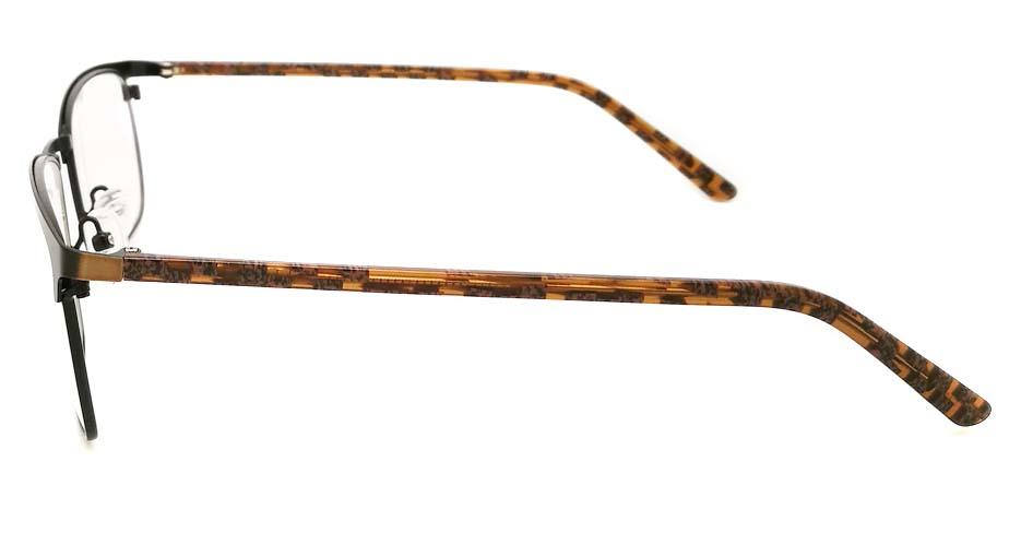 Black with Brown Rectangular blend glasses frame JX-32061-C19