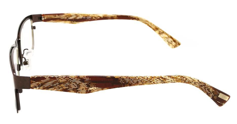 Grey oval  blend glasses frame JX-L011-C9
