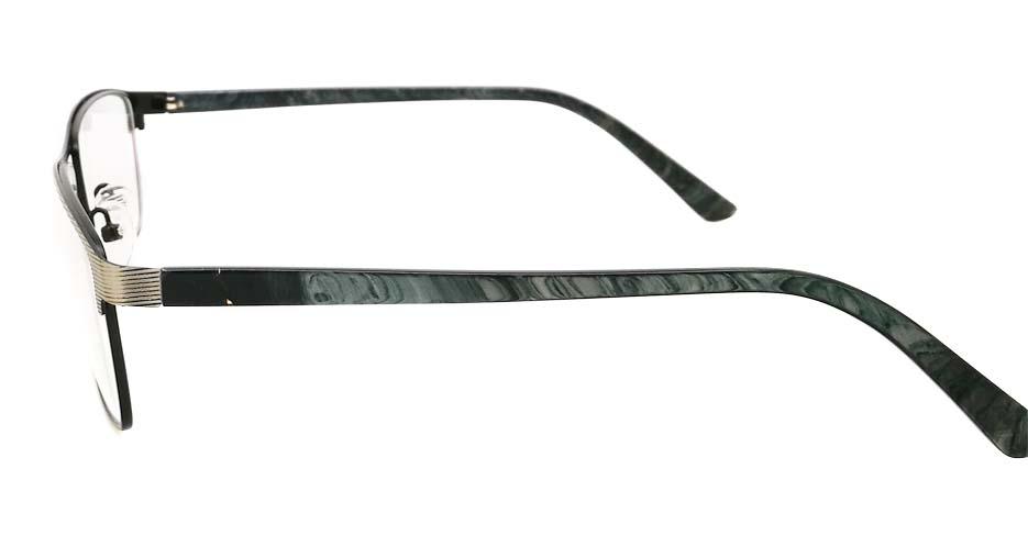 grey with black Rectangular blend glasses frame JX-32062-C14