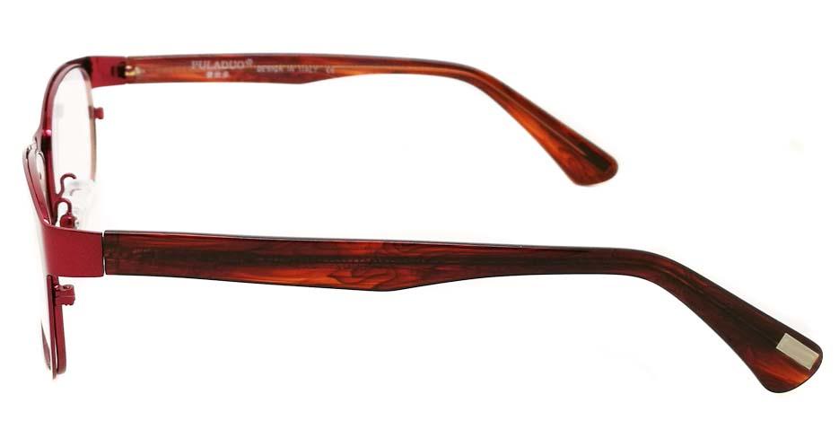 blend Red oval glasses frame JX-L002-C4