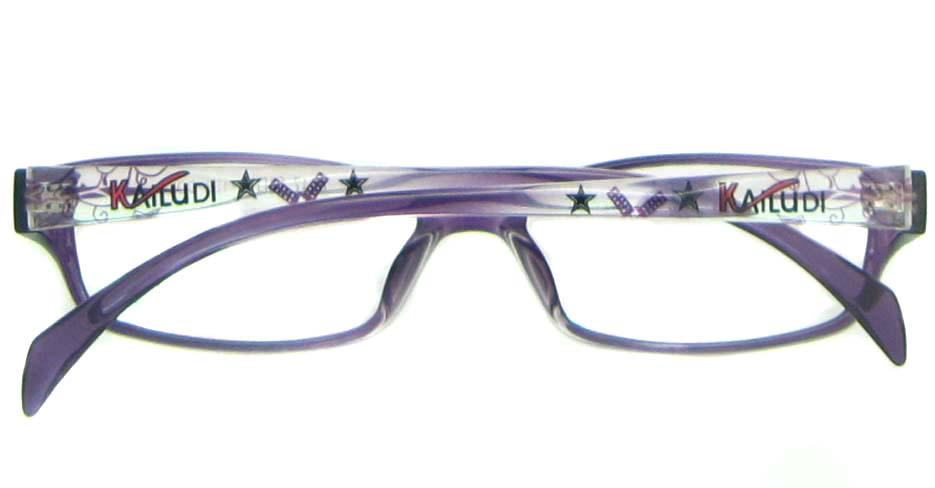 purple tr90 Rectangular glassses frame YL-KDL8047-C4