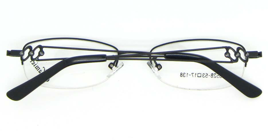 metal oval black glasses fraames WKY-KM5528-HS