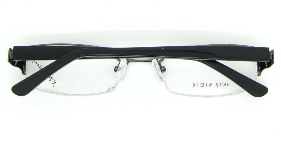 black with tea blend rectangular glasses frame  WKY-XDBL6812-Q