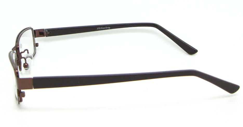 black with tea blend rectangular glasses frame WKY-XDBL6892-ZS