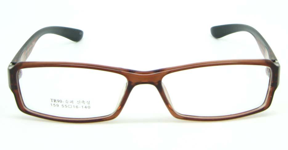 brown with black tr90 Rectangular glasses frame JNY-MJN159-C7