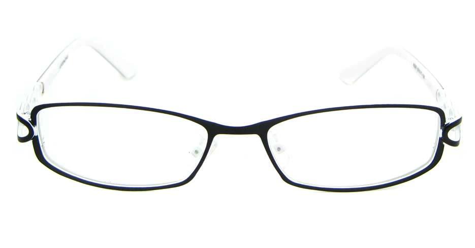 black metal oval glasses frame WKY-KNXJ6225-HS