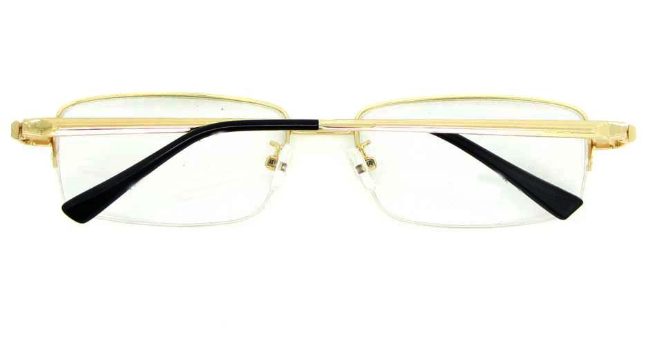 gold metal Rectangular glasses frame  WKY-ASR7151-J